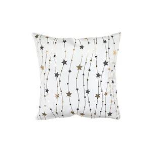 Coussin blanc et doré d'IH Casa Decor, étoiles, ens. de 2