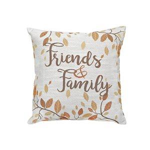 Coussin beige d'IH Casa Decor, Friends and Family, ens. de 2