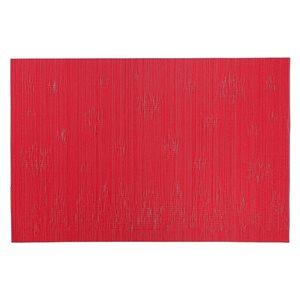 Napperons en vinyle rectangulaires IH Casa Decor, forêt d'hiver rouge, ens. de 12