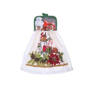 IH Casa Decor Festive Tie Hand Towels - Set of 2