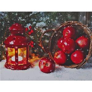 Décoration murale de Noël de 12 po avec lumière DEL par IH Casa Decor, lanterne de Noël