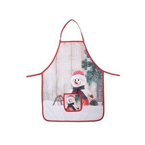IH Casa Decor Snowman Print Apron with Pocket
