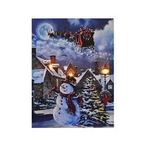 Décoration murale de Noël de 12 po avec lumière DEL par IH Casa Decor, veille de Noël