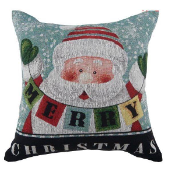 Coussin Merry Christmas d'IH Casa Decor, motif de Père Noël, ens. de 2