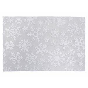 Napperons en vinyle rectangulaire IH Casa Decor, flocons de neige argentés, ens. de 12