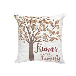 Coussin beige avec motif d'arbre d'IH Casa Decor, Friends and Family, ens. de 2