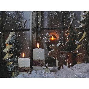 Décoration murale de Noël de 12 po par IH Casa Decor, décor rustique d'hiver