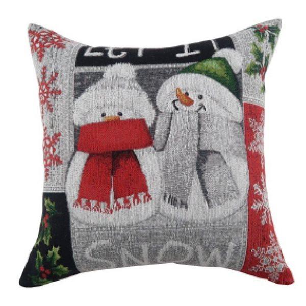 Coussin avec motifs de bonhommes de neige d'IH Casa Decor, ens. de 2