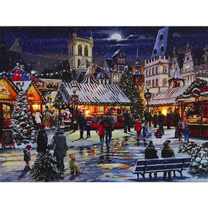 Décoration murale de Noël de 12 po avec lumière DEL par IH Casa Decor, célébration du temps des fêtes