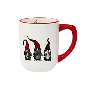 Ensemble de 2 tasses en céramique par IH Casa Decor blanches et rouges