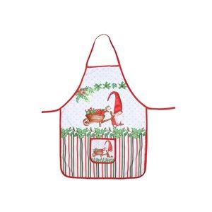 Tablier avec poche d'IH Casa Decor, imprimé d'un gnome avec des cadeaux