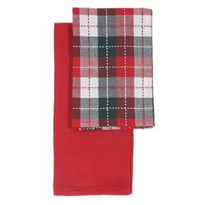 IH Casa Decor Magic of Christmas Print Kitchen Towels - Set of 2