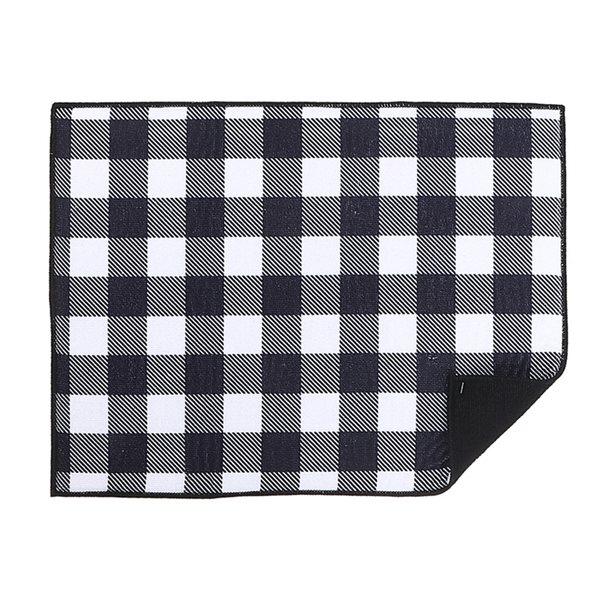 Tapis de séchage en microfibre 20 po x 15 po de IH Casa Decor, noir et blanc