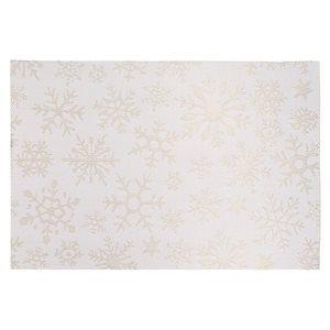Napperons en vinyle rectangulaires IH Casa Decor, flocons de neige dorés, ens. de 12