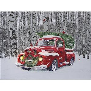 Décoration murale de Noël de 12 po par IH Casa Decor, sapin de Noël