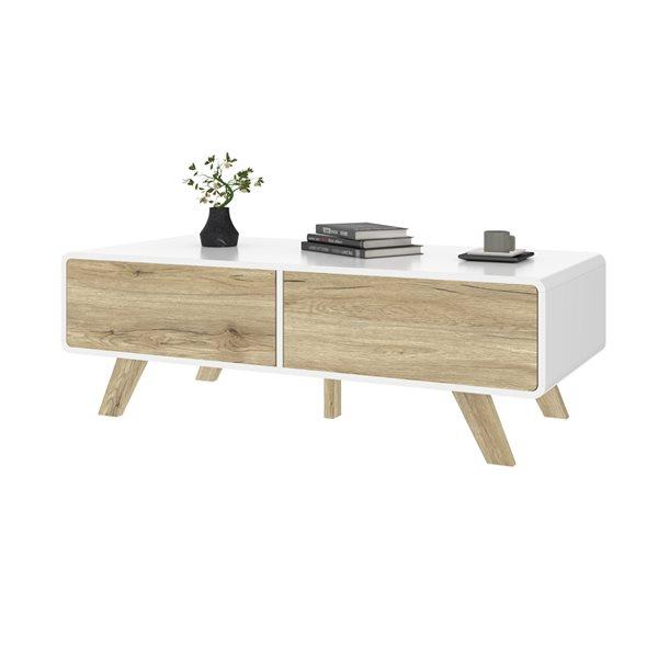 Bestar Alhena White Composite Coffee Table