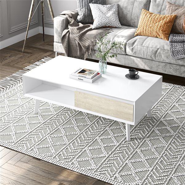 Table basse Adara par Bestar en composite blanc