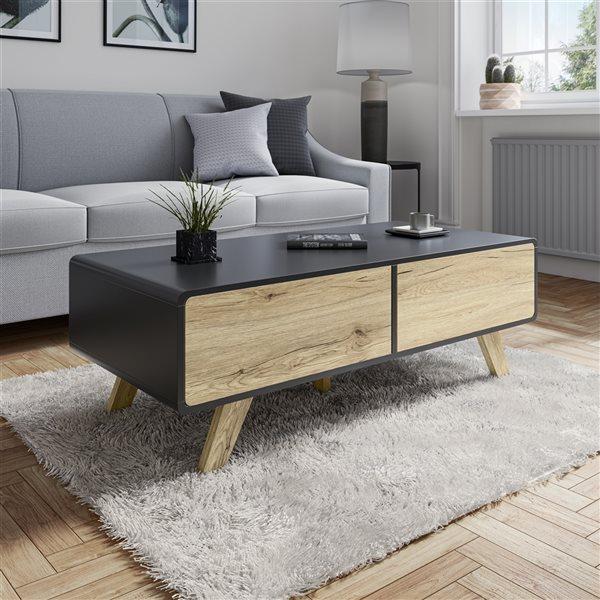 Bestar Alhena Black Composite Coffee Table