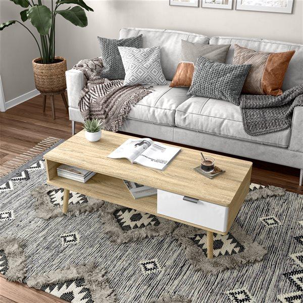 Table basse Procyon par Bestar en composite brun