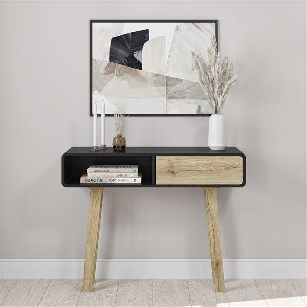 Console moderne noire Alhena par Bestar