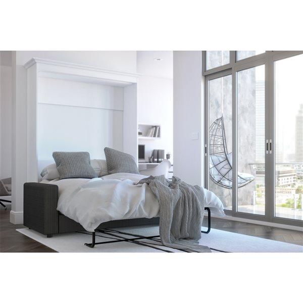 Bestar Versatile 73-in White Full Murphy Bed with Sofa