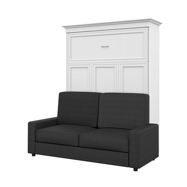Bestar Versatile 78-in White Queen Murphy Bed with Sofa