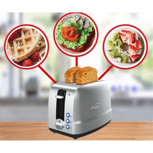 Brentwood2-Slice Silver850W Select Toaster with Extra Wide Slots