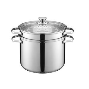 Hamilton Beach8-qt Aluminum Pasta Cooker with Steamer and Lid Included