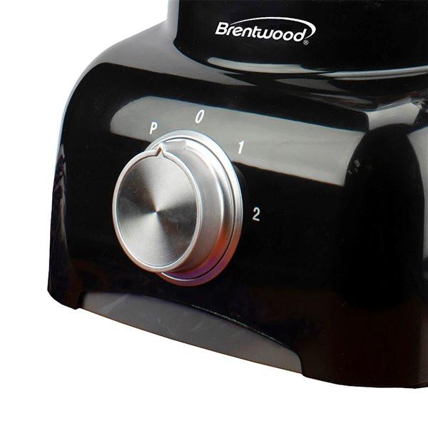 Robot culinaire à une lame Brentwood de 300 W, capacité de 5 tasses, noir