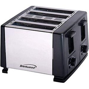 Grille-pain Brentwoodà 4 tranches et 1300 W, noir