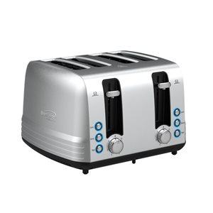 Brentwood4-Slice Silver1500W Select Toaster with Extra Wide Slots