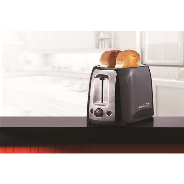 Brentwood2-Slice Black 800W Cool Touch Toaster