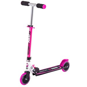 Rugged Racers 2-Wheel Pink Kids Scooter