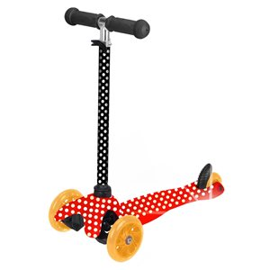 Rugged Racers 3-Wheel Red Polka Dots with LED Lights Kids Scooter