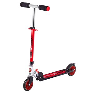 Rugged Racers 2-Wheel Black and Red Kids Scooter