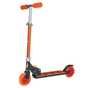 Rugged Racers 2-Wheel Orange Basketball Design with LED Lights Kids Scooter