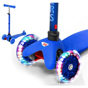 Rugged Racers 3-Wheel Blue with LED Lights Kids Scooter