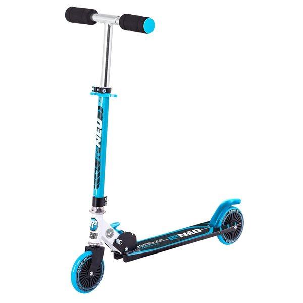 Trottinette pour enfants de Rugged Racers noire et bleue à 2 roues