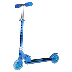Rugged Racers 2-Wheel Blue with LED Lights Kids Scooter