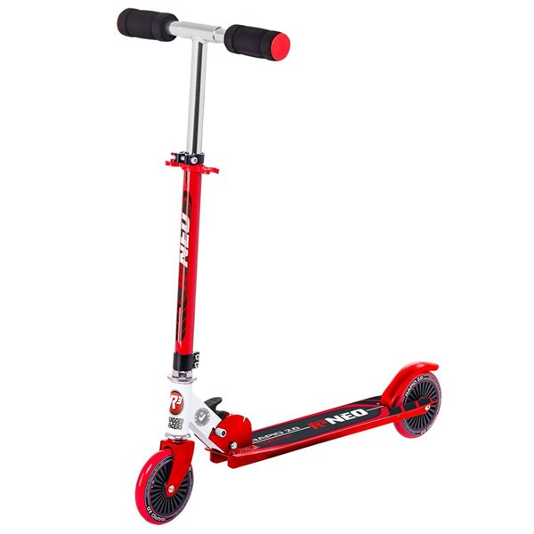 Trottinette pour enfants de Rugged Racers rouge à 2 roues