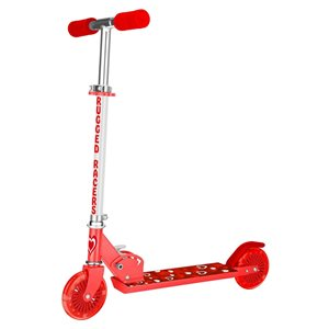Rugged Racers 2-Wheel Red Heart Print with LED Lights Kids Scooter