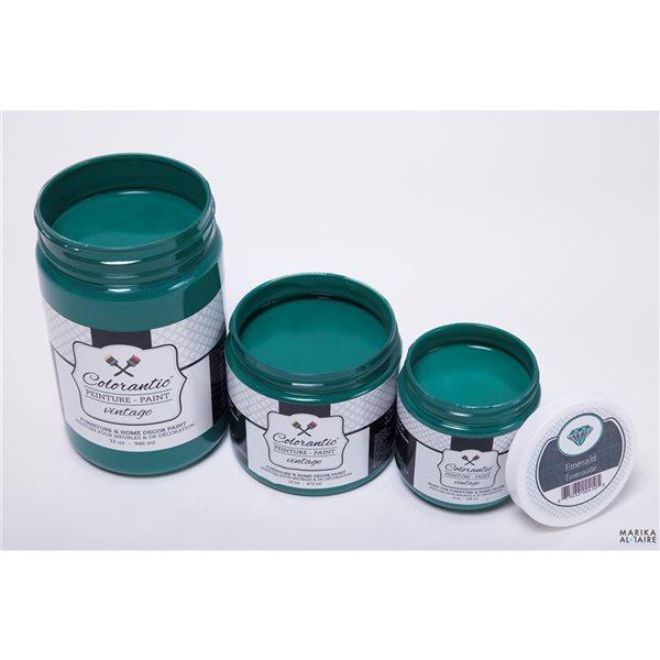 Peinture à la craie Émeraude par Colorantic, vert sapin, 1/2 gal