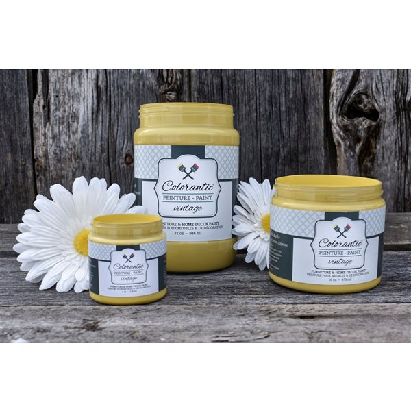 Colorantic Sunflower Dark Yellow Chalk-Based Paint (Trial Size)