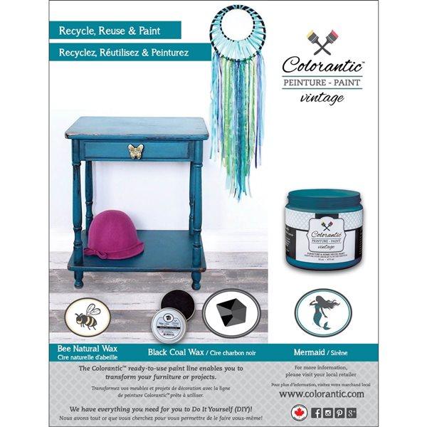 Colorantic Mermaid Blue Teal Chalk-Based Paint (Half-Gallon)