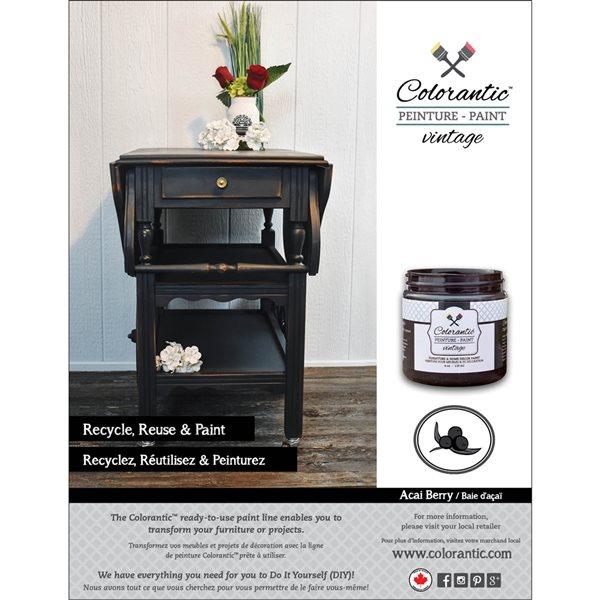 Colorantic Acai Berry Charcoal Black Chalk-Based Paint (Gallon Size)