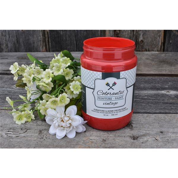 Colorantic Apple Orchard Fireman Red Chalk-Based Paint (Quart Size)