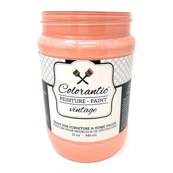 Peinture à la craie Pamplemousse par Colorantic, rose corail, 1 L