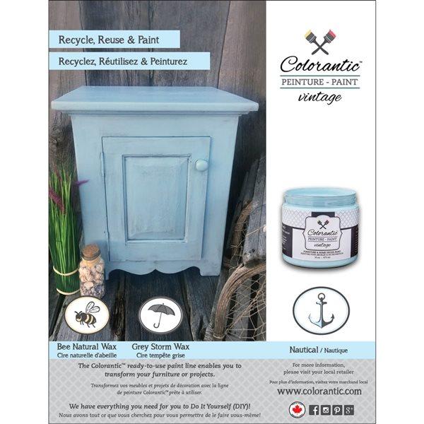 Colorantic Nautical Baby Blue Chalk-Based Paint (Quart Size)