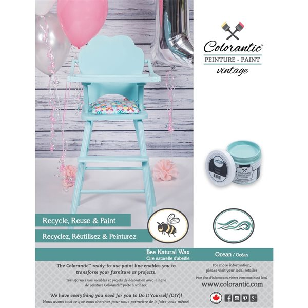 Colorantic Ocean Light Turquoise Chalk-Based Paint (Trial Size)
