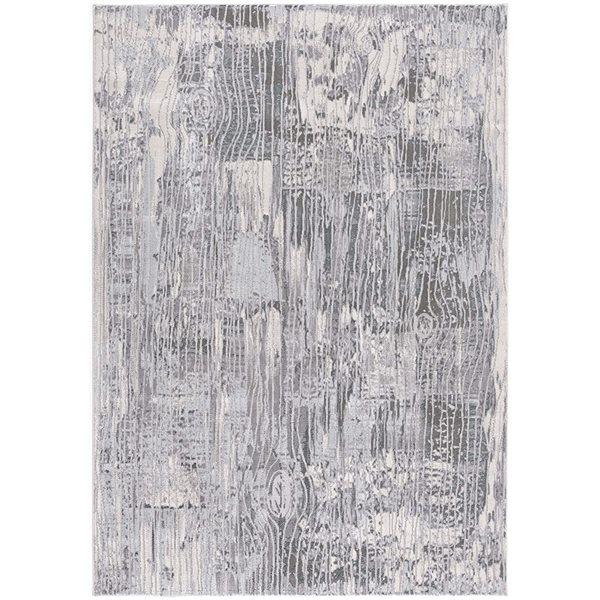 Tapis Oasis bleu par Rug Branch rectangulaire de 5pi x 8pi, motif abstrait